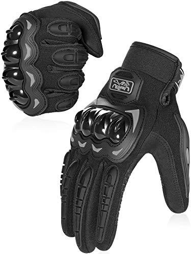 COFIT Motorrad Handschuhe, Touchscreen Motorradhandschuhe für Motorradrennen, Mountainbike, Motorcross, Klettern, Wandern und andere Outdoor Sportarten und Aktivitäten - Schwarz M