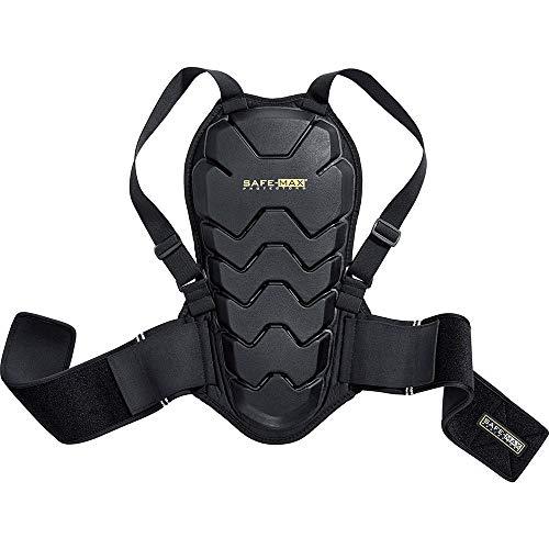 Safe Max® Rückenprotektor Motorrad Herren und Damen Rückenprotektor 04, Schutzklasse 2, sehr hohe Flexibilität, leichtes und flaches Design, integrierter Nierengurt, Schwarz, L