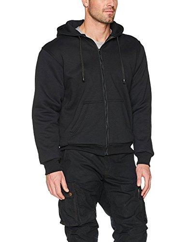 Sweater met kap/Hoody voor motorrijders - 100% Kevlar - Beschermers - Zwart - L