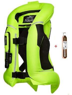 Airbag Weste für Motorrad Protektor für Rücken, Brust, Nacken und Steißbein, CO2 Flasche, Gelb