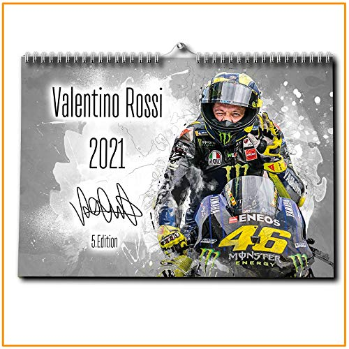 Valentino Rossi Kalender 2021 - Premium Wandkalender im Format DIN A2 - RIESIG