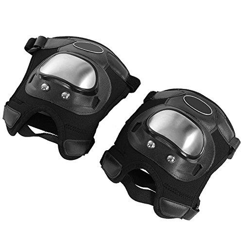 Motorrad Knieschützer, 2 Stück Edelstahl Motorrad Motocross ATV erwachsenen Knieschützer Leggings Schutz Rüstung Set