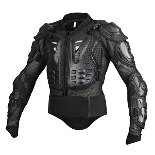 Dexinx Motorrad Radfahren Reiten Full Body Armor Rüstung Protector Professionelle Street Motocross Guard Shirt Jacke mit Rückenschutz Schwarz M