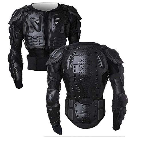 Wildken Motorrad Schutz Jacke Pro Motocross ATV Protektorenjacke mit Rückenprotektor Scooter MTB Enduro für Damen und Herren (Schwarz, XL)