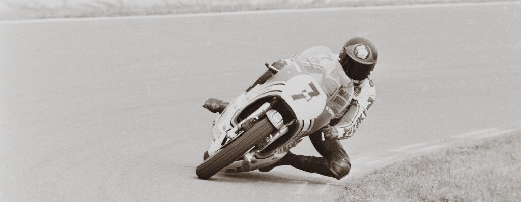 Barry Sheene in Schräglage