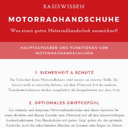 Basiswissen Motorradhandschuhe: neue Infografik