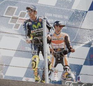 Valentino Rossi auf dem Podium